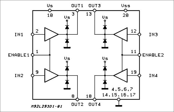 Структурная схема чипа L293DD