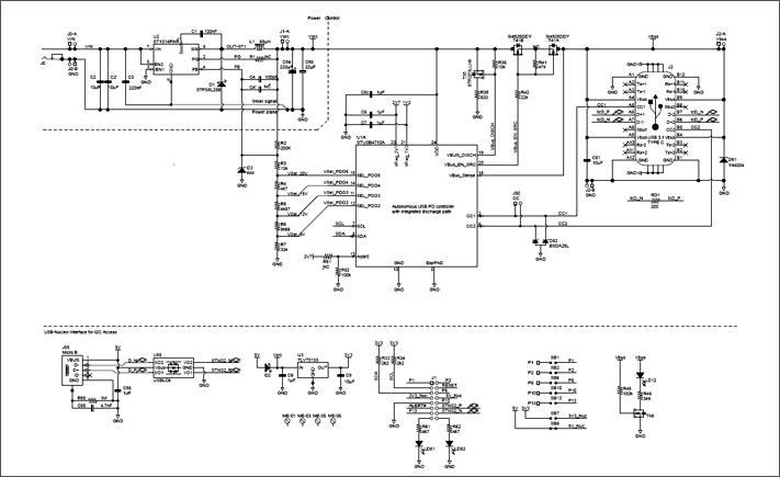 Схема принципиальная электрическая оценочной платы STEVAL-ISC004V1