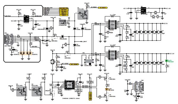 Схема принципиальная электрическая питания платы Mikromemdia 5 для TivaTM