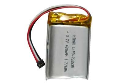 Li-Po батарея комплекта 480 mAh, 3.7 V
