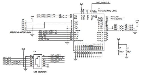 Схема принципиальная электрическая платы расширения STEVAL-STWINWFV1