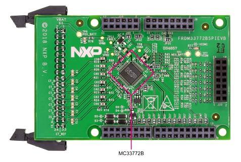 Расположение контроллера MC33772B на плате FRDM33772BSPIEVB