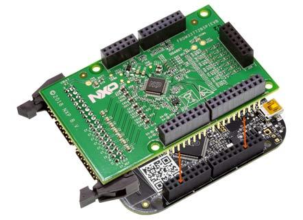 FRDM33772BSPIEVB, установленная как плата расширения (шилд) на FRDM-KL25Z (не входит в комплект поставки)