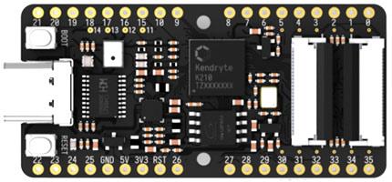 Отладочная плата Sipeed MAix BiT на основе процессора K210. Вид сверху
