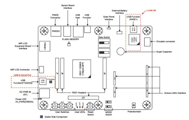 Монтажная схема основной платы набора RE01 1500KB