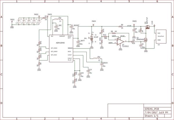Схема тестового макета на базе суперконденсатора GA109 от CAP-XX