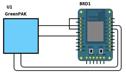 Схема IoT-устройства с Wi-Fi-приемопередатчиком ESP8266