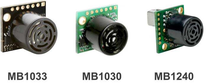 Внешний вид ультразвуковых датчиков MB1033, MB1030, MB1240