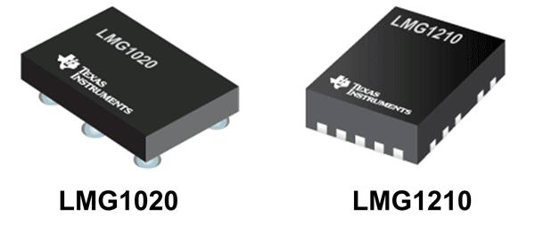 Внешний вид драйверов LMG1020 и LMG1210 от Texas Instruments