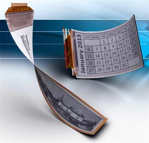 Гибкие дисплеи e-paper от Plastic Logic не требуют защитного стекла и допускают значительный изгиб