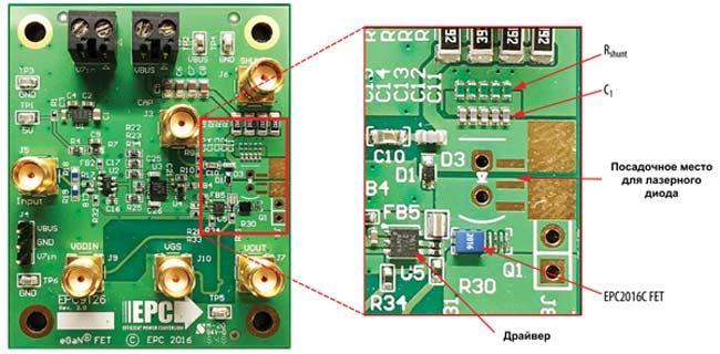 Драйвер EPC9126 с GaN-транзистором