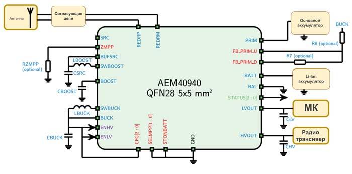 Схема включения AEM40940
