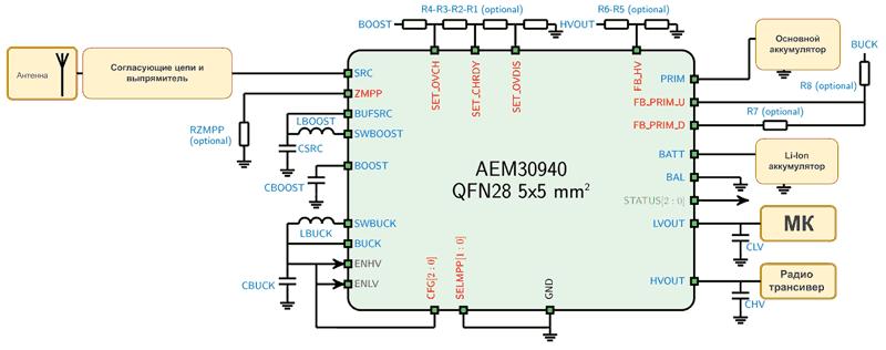 Схема включения AEM30940