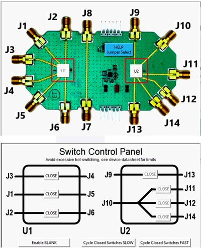 Внешний вид программы управления для работы с MM3100 EVK