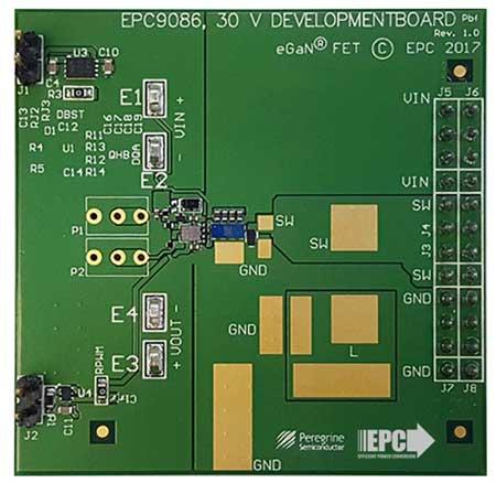 Плата EPC9086 позволяет оценить возможности транзисторной сборки EPC2111