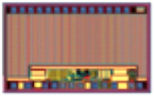 Рис. 2. Интегральная микросхема, объединяющая GaN-транзистор, драйвер затвора, схему защиты от пониженного напряжения и схему управления скоростью dV/dt
