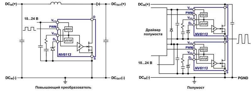 Типовые примеры использования NV611x