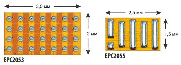Внешний вид силовых eGaN-транзисторов EPC2053 (слева) и EPC2055 (справа)  Результаты испытаний