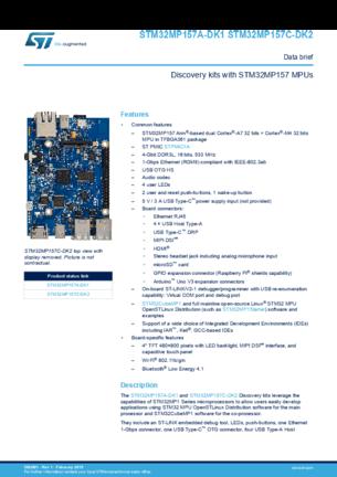 STM32MP157C-DK2, STM32MP157 (STMicroelectronics) купить по доступной